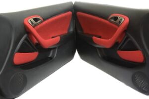 Front Door Handle Tweed Cover For Acura Rsx 02 06 Red