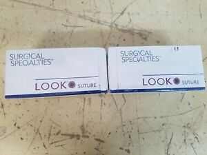 Lot Of 2 Look Surgical 925b 1282b Suture Nylon Black Monofilament 18
