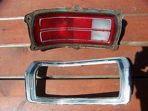 1973 74 75 76 Plymouth Duster Taillight Lens Trim Housing Lh Oem