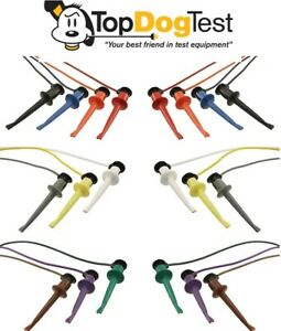 Pomona 5523 Miniature Test Leads 20 Awg 24 L Assorted Color Pack Of Ten