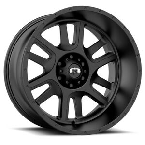 Vision Split Rim 22x12 5x5 Offset 51 Satin Black Quantity Of 4