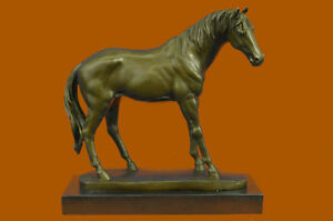 Handmade Large Art Deco Hot Cast Arabian Racing Horse Bronze Sculpture Art