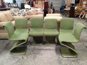 Set Of 6 Vintage Mcm Mid Century Modern Z Chairs By Rima Linea Disegno Italy