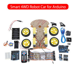 Multi functional Smart Robot Car Rubber Tire Wheel Chassis Kit For Arduino Diy