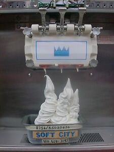 Taylor 8756 27 Soft Serve Ice Cream Machine Air Cooled Single Phase 2 Years