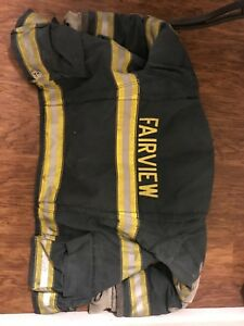 Firefighter Turnout Gear In Bag Coat Pants Boots Suspenders And Bag