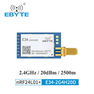 Ebyte 2 4ghz E34 2g4h20d 100mw Nrf24l01p Uart Auto Hopping Wireless Transceiver