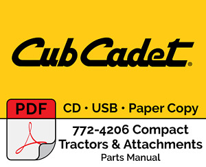 Cub Cadet 772 4206 Compact Tractors Accessories Parts Catalog Pdf Usb Cd