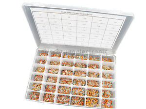 36value 3600pcs Ceramic Capacitor Assortment Box Kit 1pf 100nf