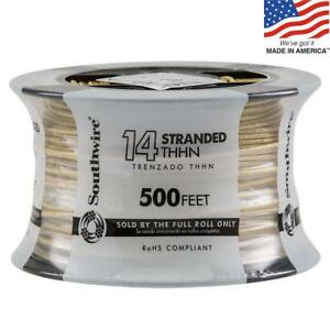 Southwire 22960958 500 ft 14 Awg Stranded Yellow Copper Thhn Wire By roll New