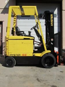 Hyster E55xm 33 Cushion Tire Sit Down 36 Volt Electric Forklift
