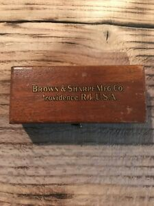 Brown And Sharpe Dial Jeweled Indicator With Wood Case Machinist Lathe