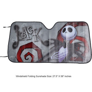 New Nightmare Before Christmas Jack Car Truck Front Windshield Folding Sun Shade