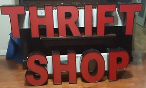 Thrift Shop Sign Lighting Advertising Shop Outdoor Sign Channel Letters