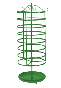 Earring Display Kelly Green Jewelry Rack 8 Tiered 24 Rotating Spins Holds 192