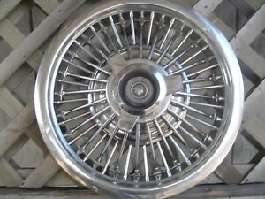 1965 1966 Mercury Grand Marquis Colony Park 15 Wire Spinner Hubcap Wheel Cover