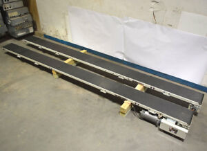 2 Qc 13 x10 Belt Conveyor Sections 1 motor reducer 33 hp 90vdc 308 lb in