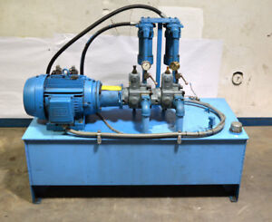 Weg Continental 15 hp 3 ph W21 Severe duty Hydraulic Power Unit 59 lx26 wx15 h