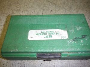 Greenlee 735bb Ball Bearing Knock Out Punch Set