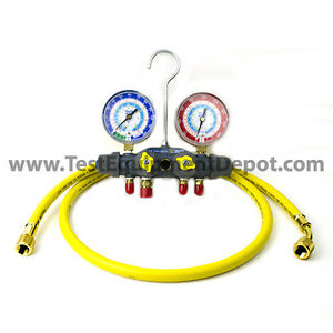 Yellow Jacket 49987 Titan 4 valve Test Charge Manifold Psi f