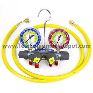 Yellow Jacket 49900 Titan 4 valve Test Charge Manifold Psi F c