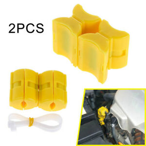 2x Magnetic Fuel Saver For Vehicle Gas Universal Reduce Emission Powermag Yellow