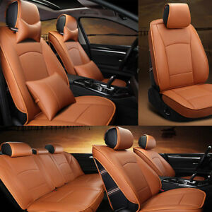 Us Deluxe Pu Leather Seat Covers Fit For Ford F 150 2010 2016 Front