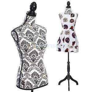 New Female Mannequin Torso Dress Form Clothing Display W black Tripod Stand