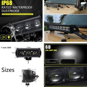 Waterproof 8d 30w 7inch Cree Led Spot Work Light Bar Off Road 4wd Atv Tractor