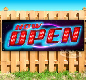 Now Open Glowing Advertising Vinyl Banner Flag Sign Many Sizes Usa
