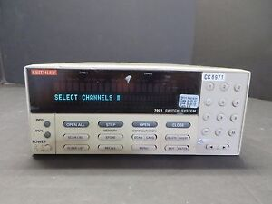Keithley 7001 80 Channel Switch System Mainframe Id 25999 test A 3