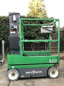 2014 Skyjack Sj12 12 Electric Scissor Personnel Mast Lift Man Manlift Aerial