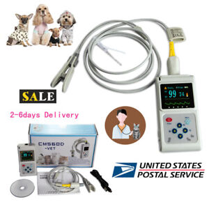 Veterinary Spo2 Pulse Oximeter Heart Rate Monitor Vet Ear tongue Probe Software