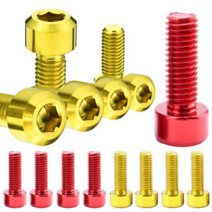 M3x10mm Gold red 7075 Aluminum Screws Allen Hex Socket Cap Head Bolts Din912 Lot