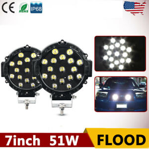 4x 96w 5inch Off road Led Work Lights Spot Pods Tractor 4wd Ute Jeep Red 6500k