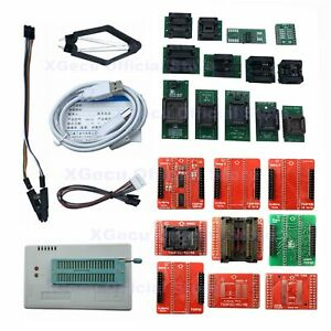 Xgecu Tl866ii Programmer Plus For Spi Flash Nand Eprom Mcu Avr 22 Adapters clip