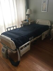 Stryker Secure Ii Electric Hospital Medical Bed With Scale Plexus Air Mattress