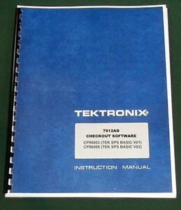 Tektronix 7912ad Checkout Software Manual Comb Bound Protective Covers