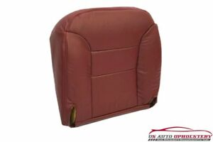 95 99 Chevy Suburban Tahoe Lt Driver Side Bottom Leather Seat Cover Red Burgundy