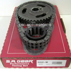 Sb Ford 302 351w Late 250 Double Roller Timing Chain 9 Keyway Thrust Bearing