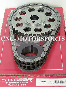 Sb Ford 302 351w Late Billet Race Roller Timing Chain 3 Keyway Sa Gear 78551tr