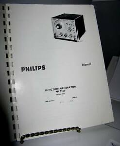 Philips Pm5168 Vintage Function Generator Manual Includes Schematic 55 Pages