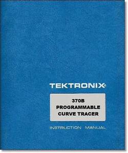 Tektronix 370b Service Manual W 11 x17 Foldouts Protective Plastic Covers