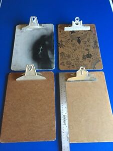 Vintage Lot Of 4 Used 9 X 12 5 Inches Clipboards A w Buill Products U s a