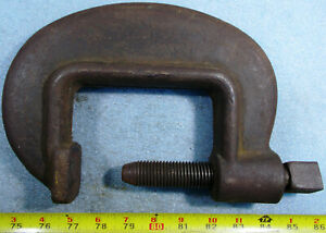 Armstrong No 14 Drop Forged Heavy Duty Service C clamp 4 5 8 Opening 3 Throat