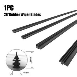 1pc 28 6mm Car Bus Silicone Universal Frameless Windshield Wiper Blade Refill