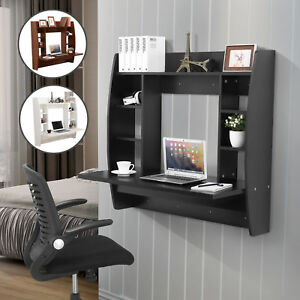 Floating Wall Mounted Office Computer Desk Home Office Table Storage 3 Colors