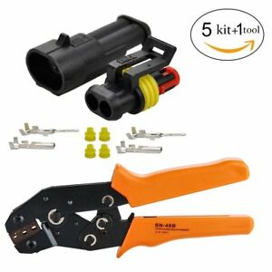 2 Pin Waterproof Electrical Connector 1 5mm Series Terminal With Crimping Tool