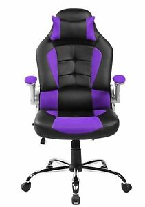 Merax High Back Executive Office Chair Pu mesh Swivel Chair Racing Gaming Chair