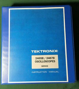 Tektronix 2465b 2467b Service Manual 11 x17 Foldouts Protective Covers